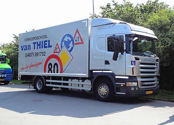 vrachtwagen les